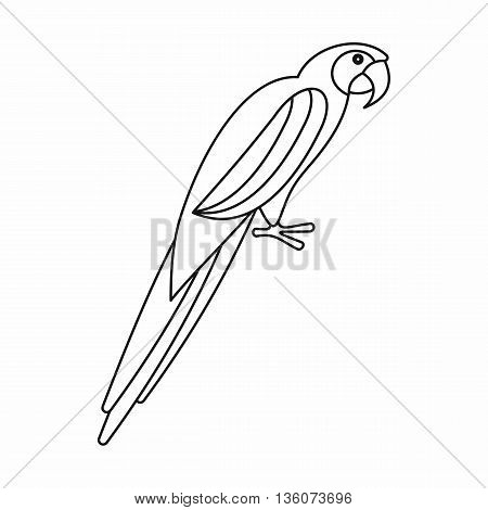 Parrot icon in outline style isolated on white background