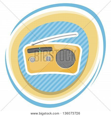 Radio Colorful Icon