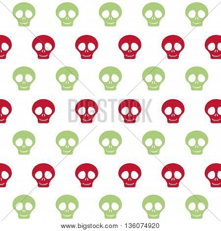 Mexico culture concept represented by skull background icon. Colorfull and flat illustration