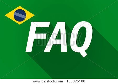 Long Shadow Brazil Flag With    The Text Faq