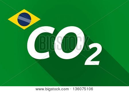 Long Shadow Brazil Flag With    The Text Co2