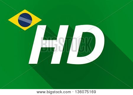 Long Shadow Brazil Flag With    The Text Hd