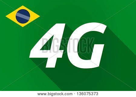 Long Shadow Brazil Flag With    The Text 4G