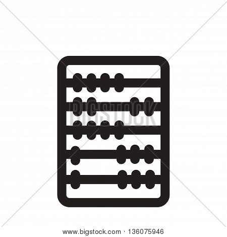 Flat icon in black and white  abacus