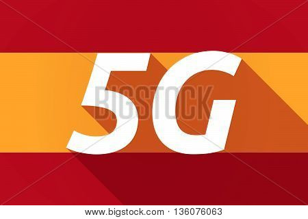 Long Shadow Spain Flag With    The Text 5G