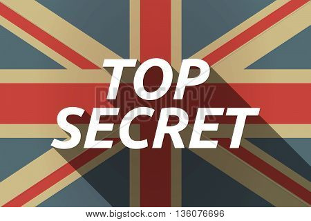 Long Shadow Uk Flag With    The Text Top Secret