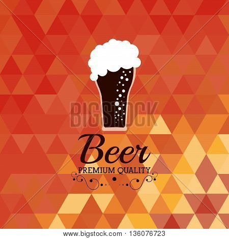 Drink and beverage concept represented by beer glass icon. Colorfull and flat illustration