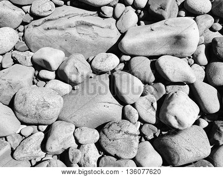 Rocks on the shore of Lake Superior