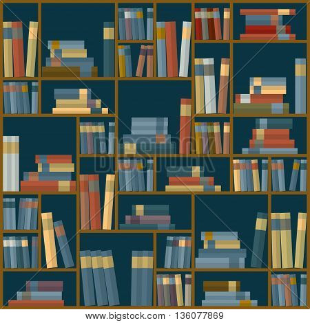 Vector of library book background. Seamless pattern