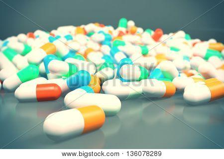 Medicine On Grey Background