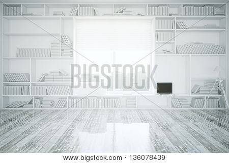 Interior With Bookcase