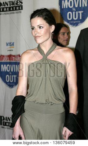 Kathleen Robertson at the Celebrity Gala Opening For National Tour Of Movin' Out held at the Pantages Theatre, in Hollywood, USA on September 17, 2004.