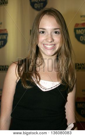 Andrea Bowen at the Celebrity Gala Opening For National Tour Of Movin' Out held at the Pantages Theatre in Hollywood, USA on September 17, 2004.
