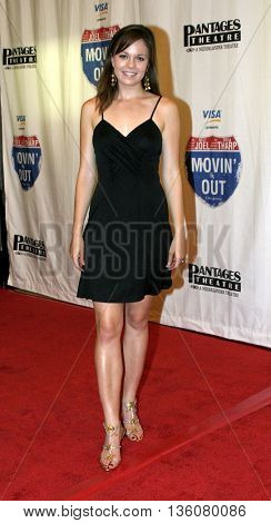 Rachel Boston at the Celebrity Gala Opening For National Tour Of Movin' Out held at the Pantages Theatre in Hollywood, USA on September 17, 2004.