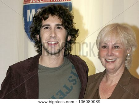 Josh Groban and his mother Mindy at the Celebrity Gala Opening For National Tour Of Movin' Out held at the Pantages Theatre in Hollywood, USA on September 17, 2004.