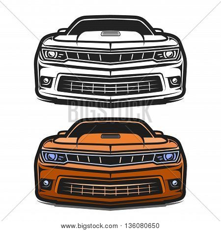 Cars muscle sport comic design vector illustration