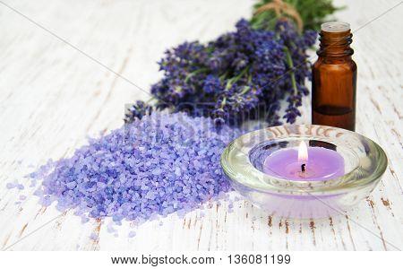 Lavender, Sea Salt And Candle