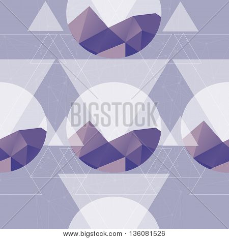 Triangular background - Seamless geometric pattern. Seamless abstract triangle geometrical background. Vector illustration