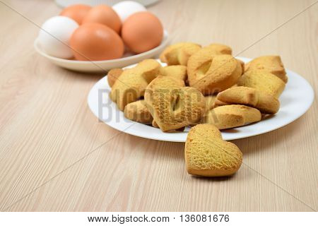 Homemade pastries with cinnamon and vanilla. Eggs. Kitchen. Preparation for the holiday.