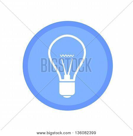 Blue bulb icon - modern vector illustration.