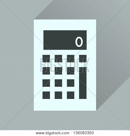 Flat icon with long  shadow office calculator