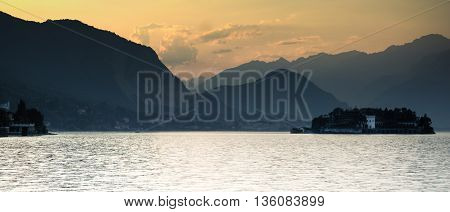 Sunset On Italy Lake