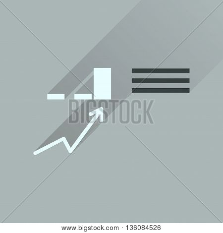 Flat icon with long  shadow infographics Business