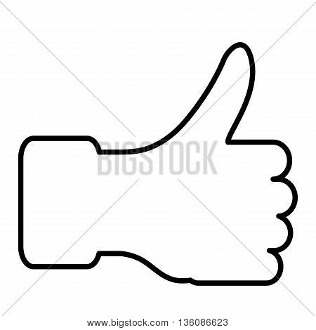 The thumb lifted upwards a Vector illustration.