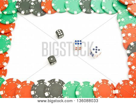 Dices And Plastic Chips