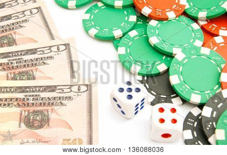 Dices, Dollars And Plastic Chips