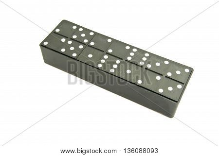 Plastic Dominoes Chips On White