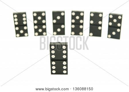 Different Black Dominoes Chips