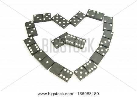 Heart From Black Dominoes Chips