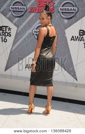 LOS ANGELES - JUN 26:  Karrueche Tran at the BET Awards Arrivals at the Microsoft Theater on June 26, 2016 in Los Angeles, CA