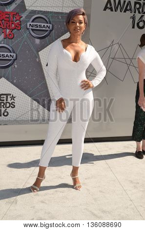 LOS ANGELES - JUN 26:  LisaRaye McCoy-Misick at the BET Awards Arrivals at the Microsoft Theater on June 26, 2016 in Los Angeles, CA