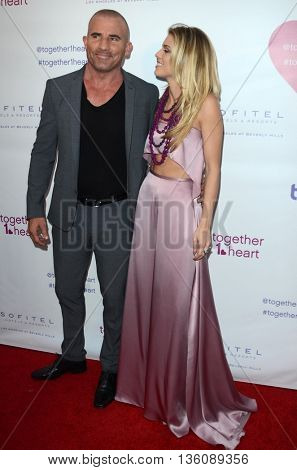 LOS ANGELES - JUN 25:  Dominic Purcell, AnnaLynne McCord at the Together1Heart Launch Party at the Sofitel Hotel on June 25, 2016 in Los Angeles, CA