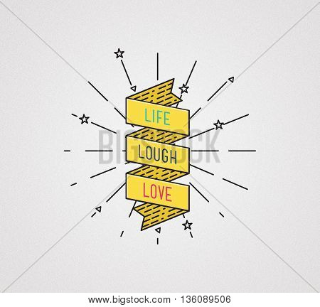 Live Laugh Love. Inspirational Illustration, Motivational Quotes