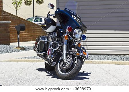 Police Motorcycle Black