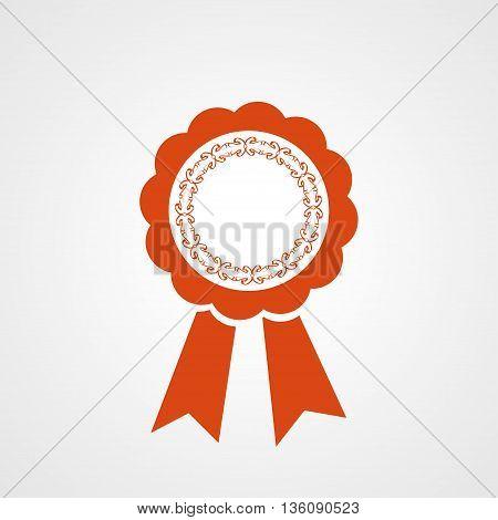 Award ribbon vector icon. Flat design style