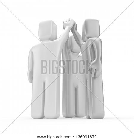 Agreement. Business metaphor. 3d illustration