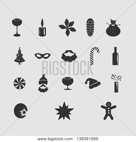 Christmas vector image set of new drawing