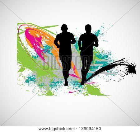 Jogger, sport illustration