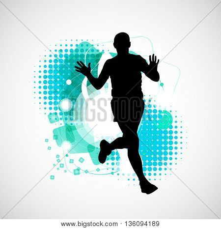 Jogger, sport illustration