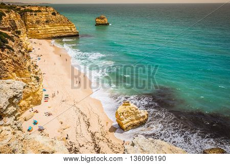 Marinha Beach located on the Atlantic coast in PortugalAlgarve.