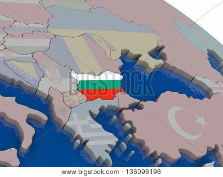 Bulgaria With Flag