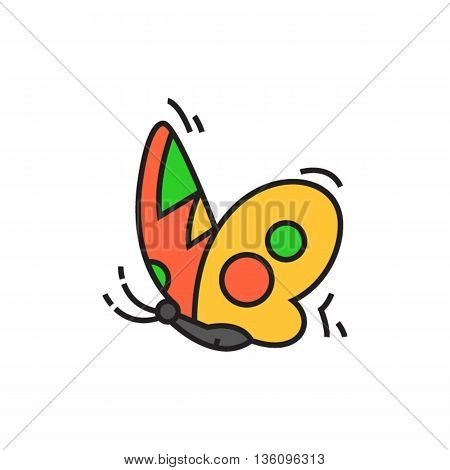 Butterfly profile. Insect, flying, logo. Animal concept. Can be used for topics like animal, biology, beauty