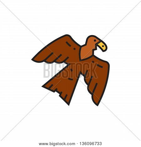 Eagle. Bird, animal, feather, logo. Animal concept. Can be used for topics like bird, animal, zoology