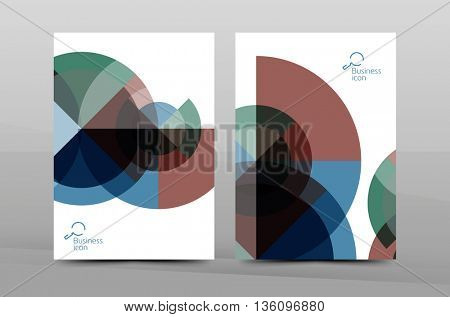 Business cover page design, brochure flyer layout, abstract presentation background poster, A4 size