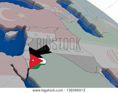 Jordan With Flag