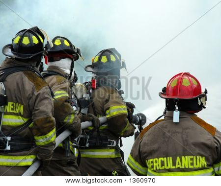 firemen fighting